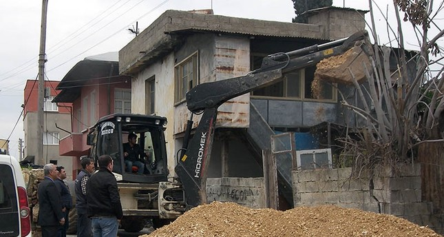 The site of the illegal excavation in Turkey's southern Mersin province DHA Photo