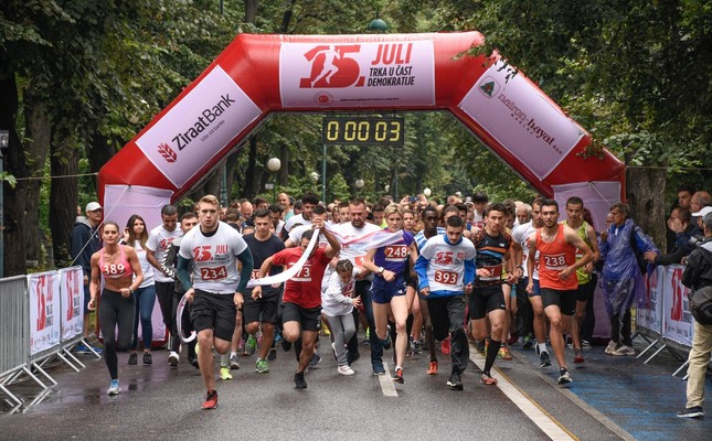 More than 500 people joined the race in Sarajevo's Vilsonovo, July 14, 2019.