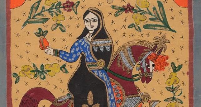 """Abla,"" drawing on Canvas, 76 x 65 cm, by Abu Subhi al Tinawi photo courtesy of the Atassi Foundation."