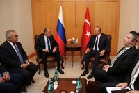 Turkish, Russian foreign, defense ministers meet ahead of Syria summit in Istanbul