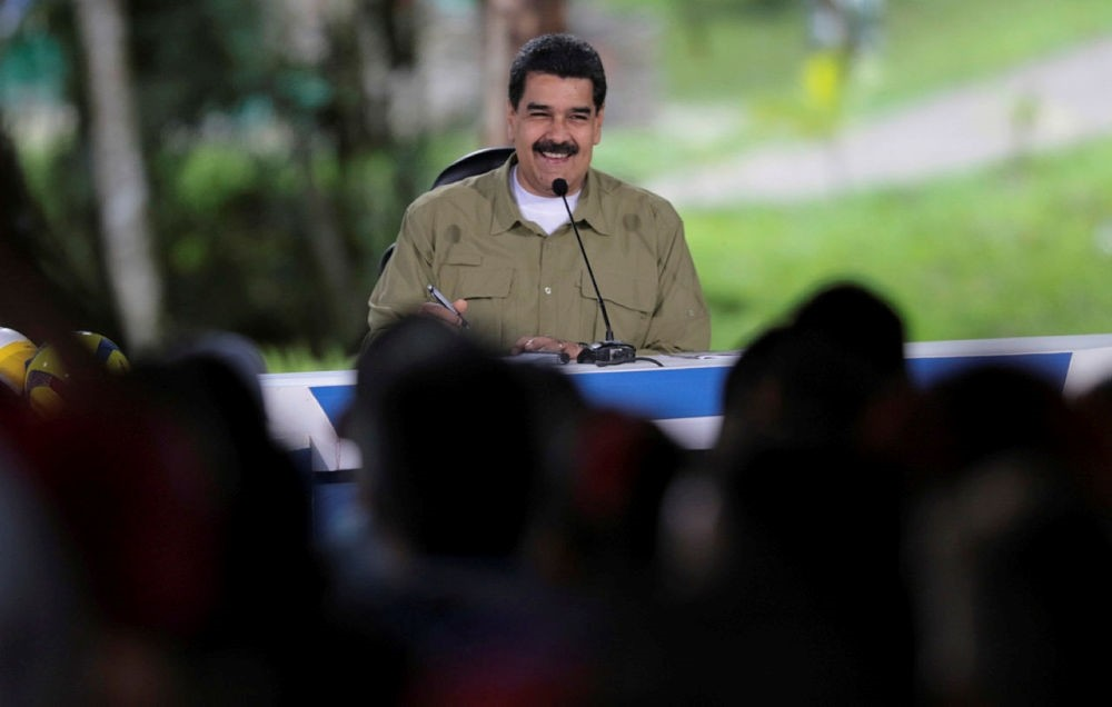 Venezuela's President Nicolas Maduro speaks during his weekly broadcast ,Los Domingos con Maduro, (The Sundays with Maduro) in Caracas, Venezuela August 6, 2017.