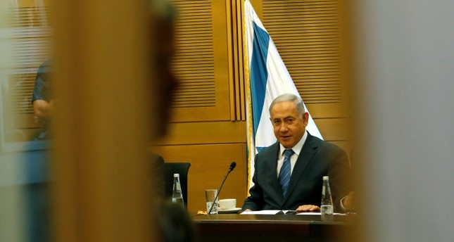 Israeli Prime Minister Benjamin Netanyahu looks on as he delivers a statement to the media at the start of his Likud party faction meeting at the Knesset, Israel's parliament, in Jerusalem Sept. 23, 2019. Reuters Photo