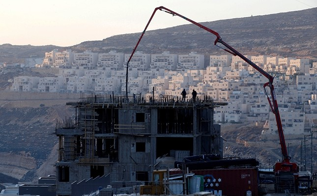 A construction site is seen in the Israeli settlement of Givat Zeev, in the occupied West Bank, Dec. 22, 2016. (Reuters Photo)