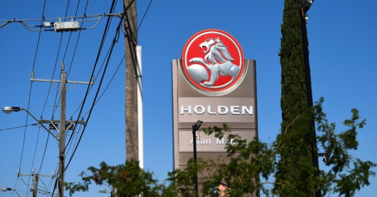 A sign for a Holden dealership is pictured in Melbourne on February 17, 2020. (AFP Photo)