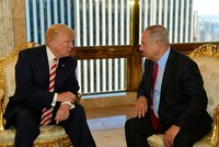 On the eve of the first meeting since the Republican's inauguration last month, Israeli Prime Minister Benjamin Netanyahu said U.S. President Donald Trump