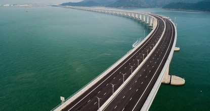 China opens 55-km bridge from Hong Kong to mainland