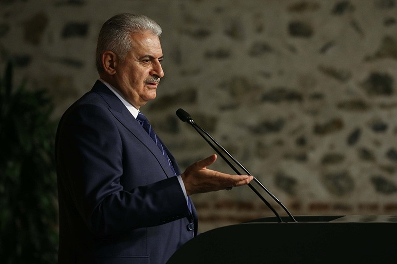 Turkey's Prime Minister Binali Yu0131ldu0131ru0131m on Monday offered condolences to Iran for the victims of Sunday's devastating earthquake. (AA Photo)
