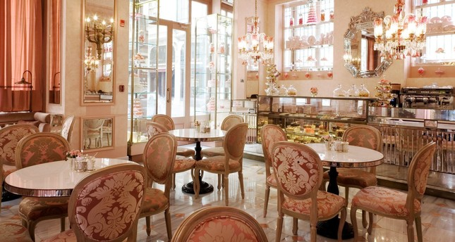 The interior of Patisserie de Pera takes its customers back in time.