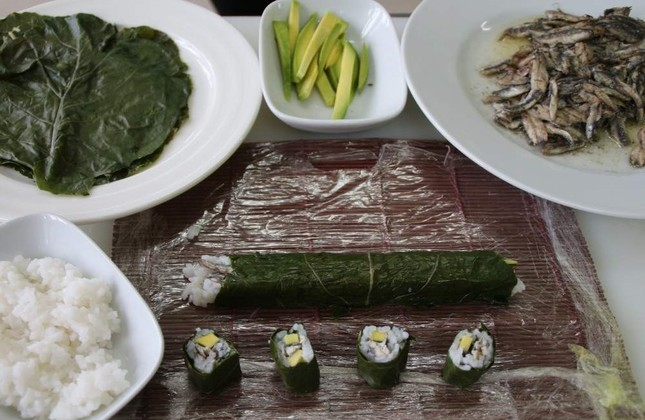 Turkish student gives Japanese sushi a Black Sea twist: Black cabbage and anchovy roll