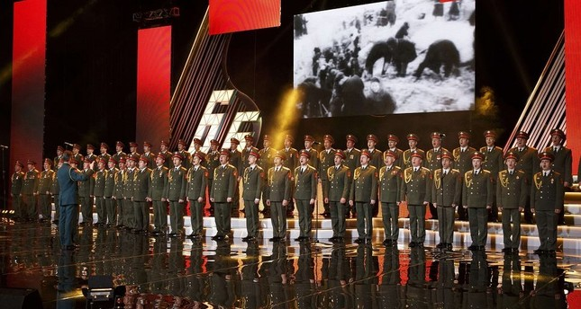 Singers and orchestra members of Red Army Choir, also known as the Alexandrov Ensemble, perform in Moscow, Russia (Reuters File Photo)