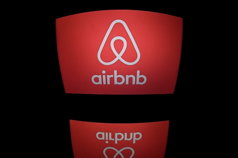 This file photo taken on March 02, 2017 shows the logo of online lodging service Airbnb displayed on a computer screen in Paris. (AFP Photo)