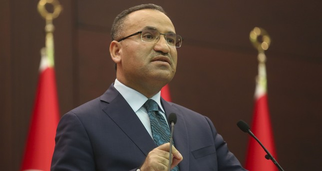 Deputy Prime Minister and government spokesman Bekir Bozdağ speaks to the press on Oct. 30, 2017. (AA Photo)