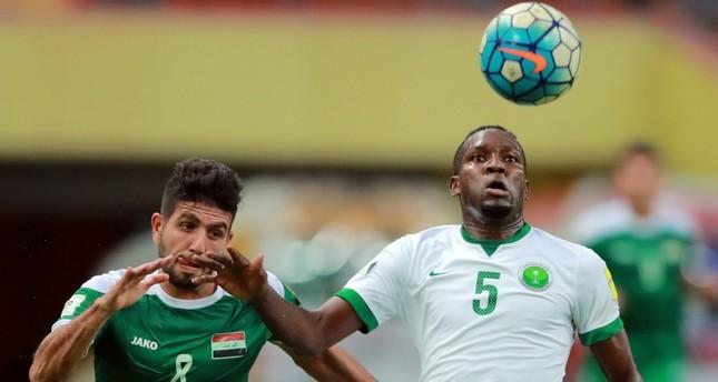 صورة أرشيفية لمواجهة بين الفريقين السعودي والعراقي