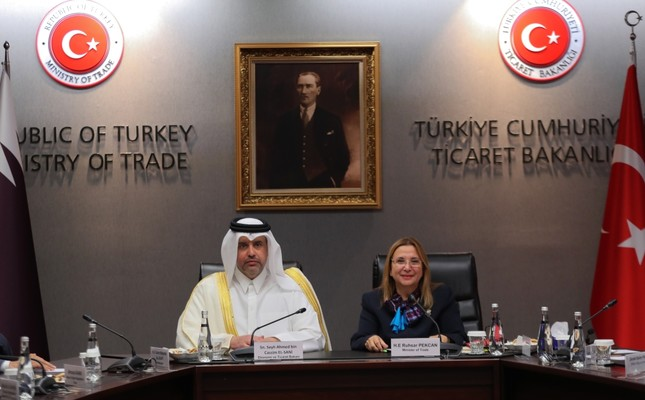 Trade Minister Ruhsar Pekcan and her Qatari counterpart Ahmed bin Jassim bin Mohammed Al-Thani signed the Economic and Trade Partnership Agreement in Ankara, Sept. 4.