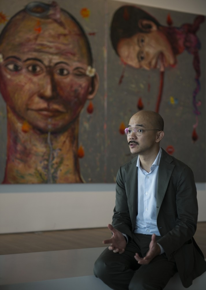 Aaron Seeto, director of the Museum of Modern and Contemporary Art in Nusantara (Museum MACAN), speaks in an interview in Jakarta.