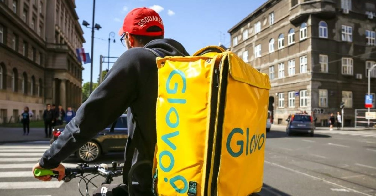 An employee of Glovo, a home delivery company for food and drinks, on the streets of Zagreb, Croatia, Oct. 20, 2019. (iStock Photo)