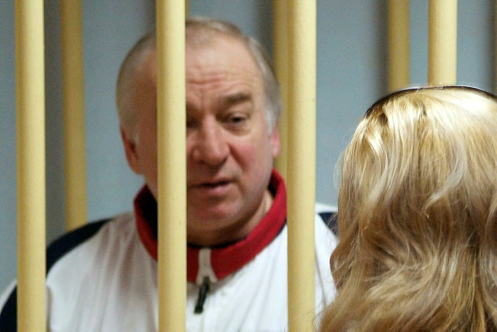 In this file photo taken on August 09, 2006 Former Russian military intelligence colonel Sergei Skripal attends a hearing at the Moscow District Military Court in Moscow on August 9, 2006. (AFP Photo)