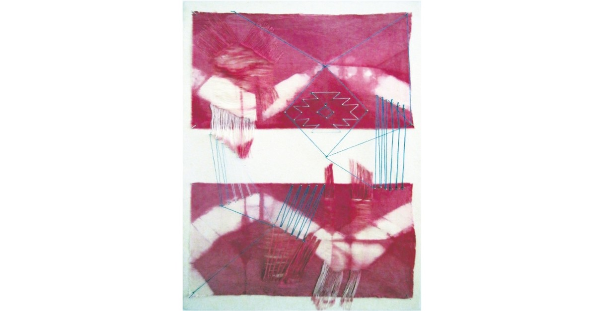 Bascunan redefines the concept of u201cborderu201d in her works through intertwined threads.