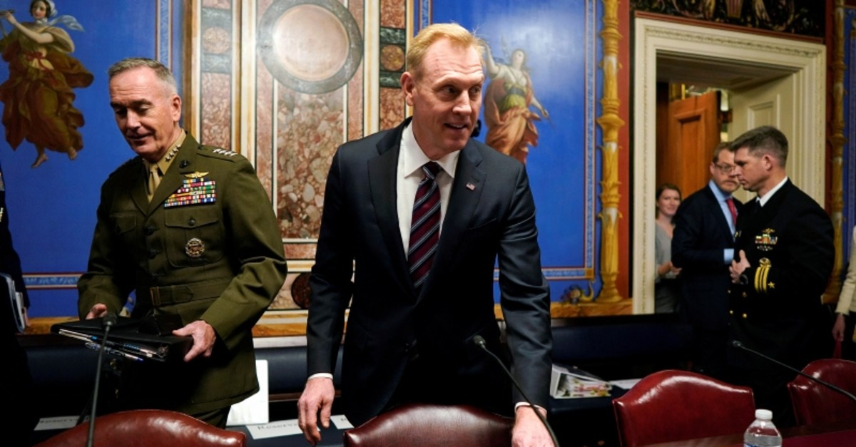 Acting Defense Secretary Patrick Shanahan arrives to testify before a Senate Appropriations Defense Subcommittee hearing on the proposed FY2020 budget for the Defense Department on Capitol Hill in Washington, U.S., May 8, 2019. (Reuters Photo)