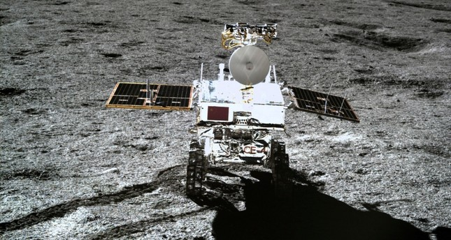 In this photo provided Jan. 12, 2019, by China National Space Administration via Xinhua News Agency, the rover Yutu-2 is seen in a photo taken by the lander of the Chang'e-4 probe on Jan. 11, 2019 (AP Photo)