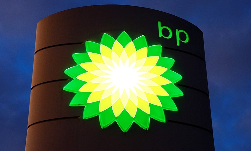 The logo of BP is seen at a petrol station in Kloten, Switzerland, Oct. 3, 2017. (Reuters Photo)