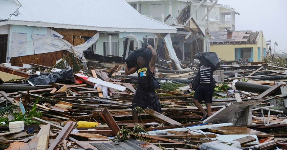 Damage in the aftermath of Hurricane Dorian on the Great Abaco island town of Marsh Harbour, Bahamas, September 2, 2019. (Reuters Photo)