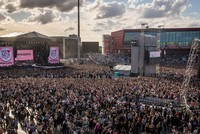 Ariana Grande takes stage at 'One Love Manchester'