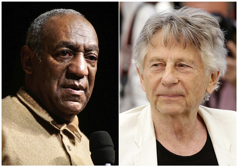 Bill Cosby (L) and Roman Polanski (AP Photo)