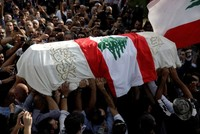 Lebanese protesters pay tribute to 'martyr of revolution'