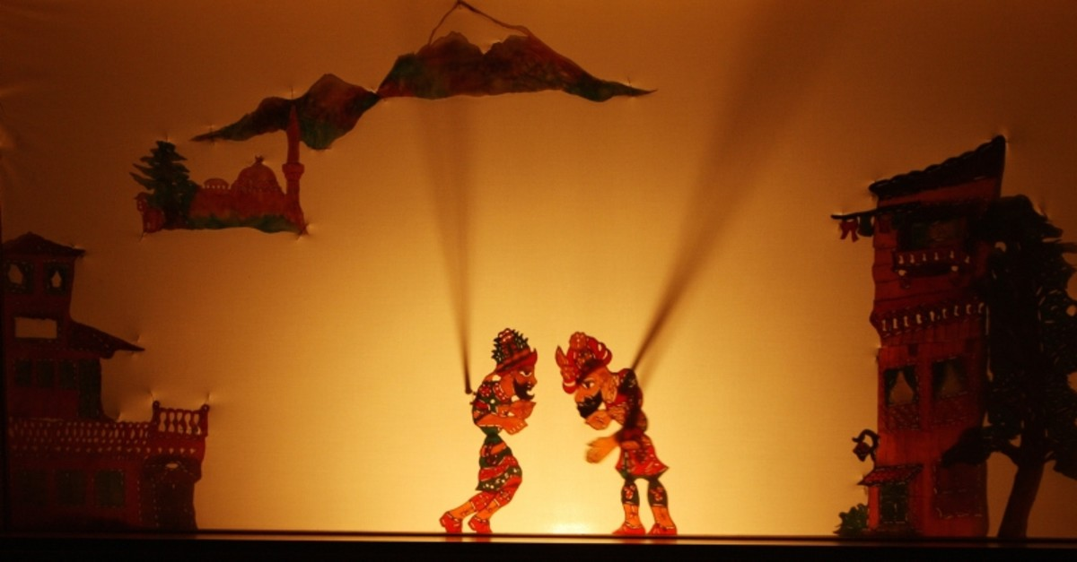 Photo shows Karagu00f6z and Hacivat, the lead characters in the popular Turkish shadow play. (FILE Photo)