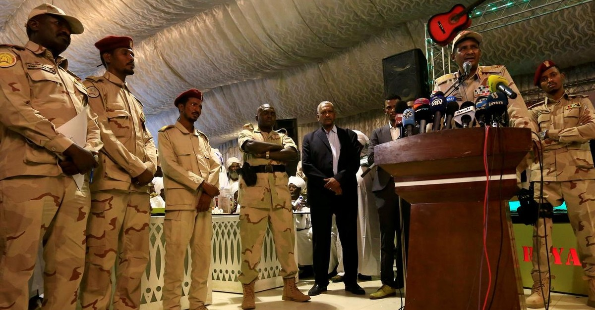 General Mohamed Hamdan Dagalo, head of the Rapid Support Forces (RSF) and deputy head of the Transitional Military Council (TMC) delivers an address in Khartoum, Sudan May 18, 2019. (Reuters Photo)