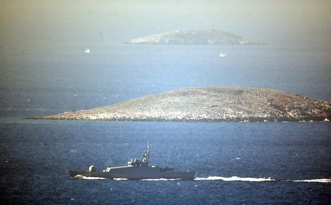 The disputed Kardak islets, which led to a diplomatic spat between Turkey and Greece