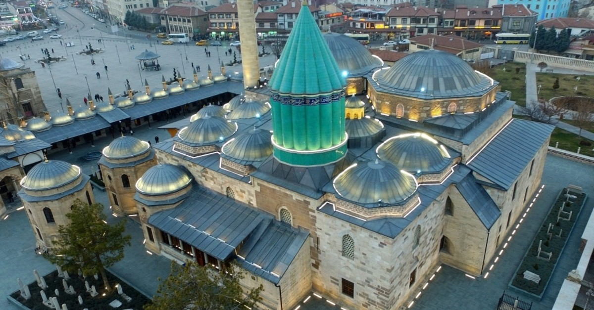The route ends at tomb of Mevlana Celaleddin Rumi in Konya. (AA Photo)