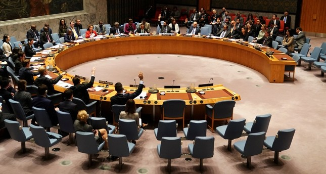 United Nations Security Council members vote on a resolution about Yemen's security at UN Headquarters in the Manhattan borough of New York City, New York, U.S., December 21, 2018. (REUTERS Photo)