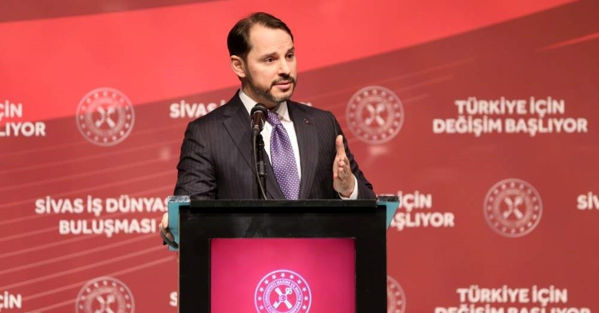 Treasury and Finance Minister Berat Albayrak speaks at a meeting with businesspeople in the central Anatolian province of Sivas, Jan. 9, 2020. (AA Photo)