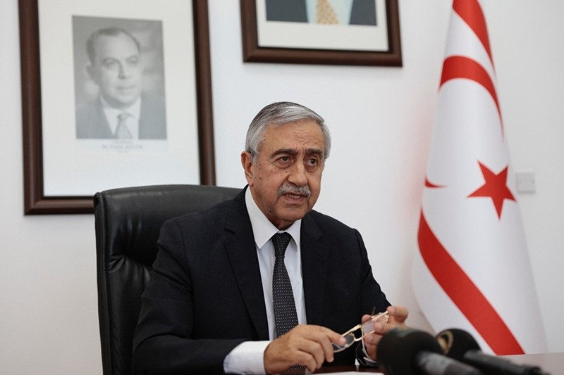 President of the Turkish Republic of Northern Cyprus (TRNC) Mustafa Aku0131ncu0131 (AA Photo)