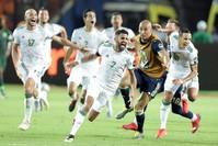 الفريق الجزائري بعد انتقاله للدور النهائي في كأس الأمم الإفريقية