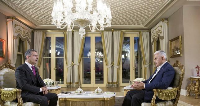 PM Yıldırım expresses support for Iraqi gov't after Kirkuk's KRG flag decision