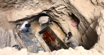 Liquid inside mystery sarcophagus only sewage water not 'elixir of life,' Egypt says