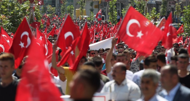 Thousands rally against PKK terrorism in eastern provinces