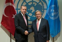 Erdoğan discusses Syrian crisis with UN secretary-general