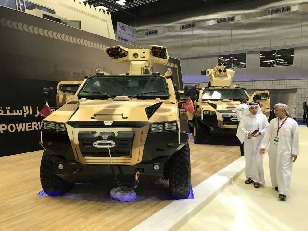 Nurol Makina signed a memorandum of understanding with Qatar's special forces to supply its NMS 4X4 armored vehicle (above), which was unveiled for the first time at DIMDEX 2018.