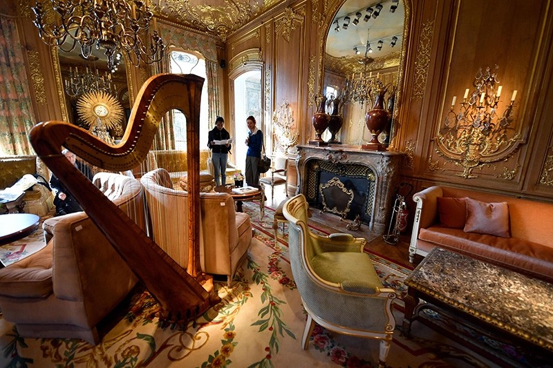 his file photo taken on April 11, 2018 shows furnitures from ,Le Salon Proust, of the Ritz Paris, part of the 10,000 Ritz objects set to be auctioned by the Artcurial auction house (AFP Photo)