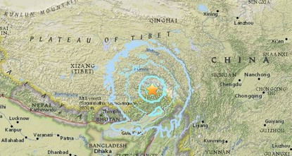 pAn earthquake of magnitude 6.3 struck southern China near the Indian border on Saturday, the United States Geological Survey (USGS) said./p