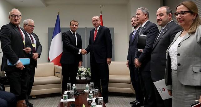 أردوغان يواصل مباحثاته الدبلوماسية بلقاء ماكرون وماي في نيويورك