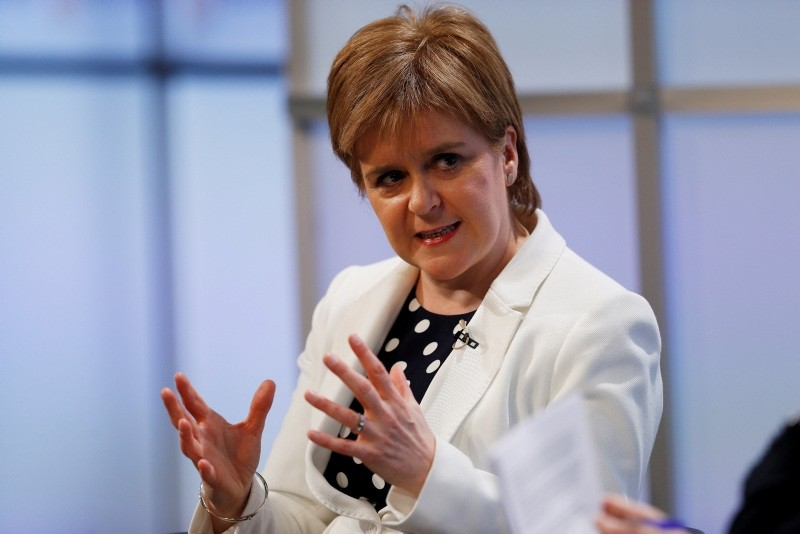 Scotland's First Minister, Nicola Sturgeon, speaks at a Reuters Newsmaker event, in London, Britain May 14, 2018. (REUTERS Photo)