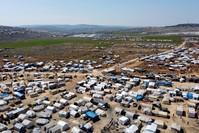 مخيم كفرلوسين للنازحين على الحدود بين سوريا وتركيا الفرنسية