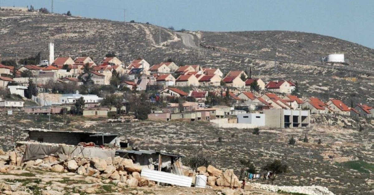 A general view of the Israeli settlement of Bani Hever, southwest of the Israeli occupied west bank town of Hebron, surrounded by the Palestiniansu2019 lands of Bani Naaim village. (Sabah File Photo)
