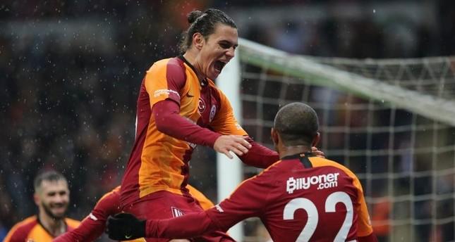 Falcao celebrates after scoring against Antalyaspor, Dec. 28, 2019. AA Photo