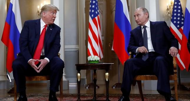 بوتين وترامب أثناء لقائهما في العاصمة الفنلندية هلسنكي 16 يوليو (رويترز)
